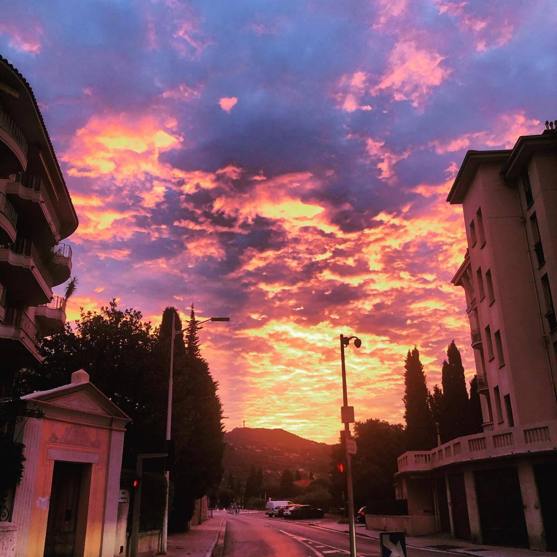 Vue depuis le quartier de Cimiez, à Nice.