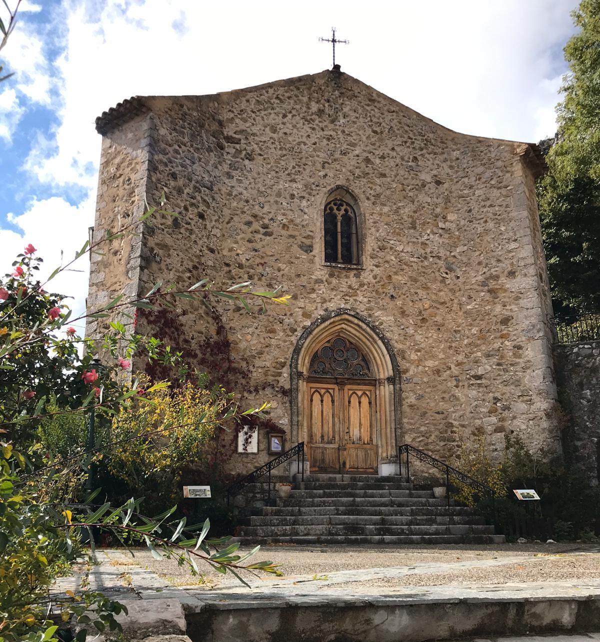 L'église de Saint-Auban.