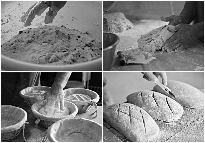 """Chacun a sa technique pour pétrir et façonner le pain, """"mais ça ne se ressent pas au goût""""."""