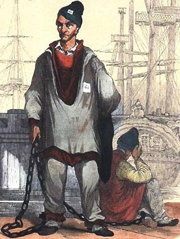 Un forçat au bagne de Toulon.