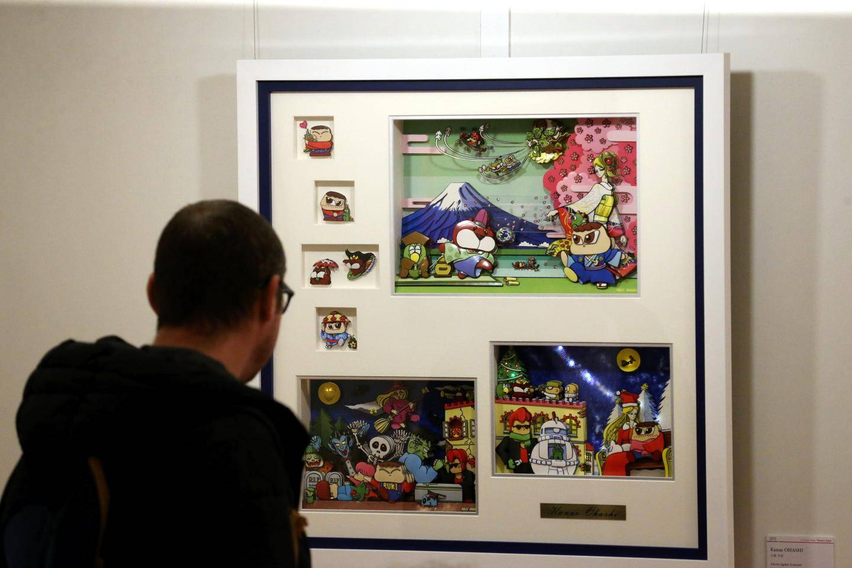 L'exposition permet de découvrir des artistes de la galerie Reijinsha.