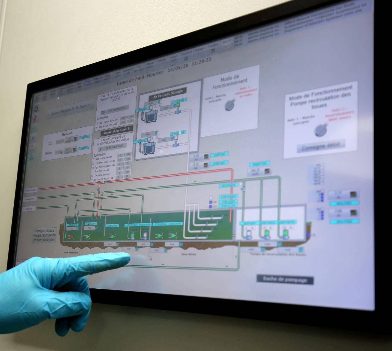 Vigilance extrême au sein du « cerveau informatique » qui pilote la station et alerte au moindre signal d'obstruction.