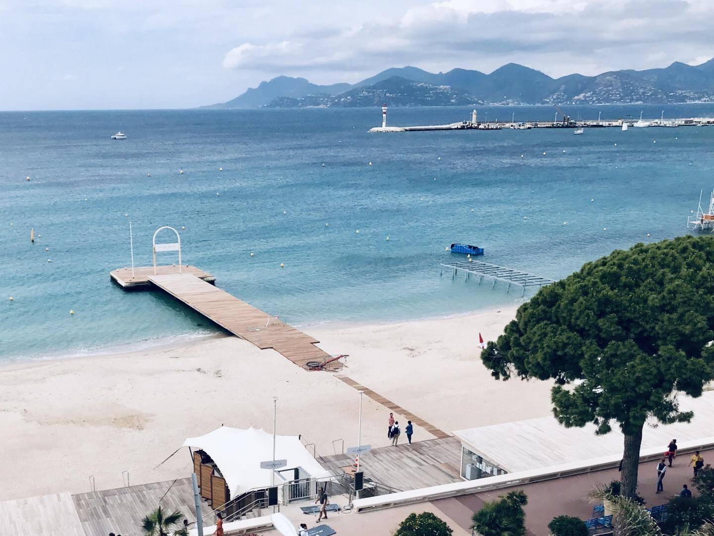 La plage de l'hôtel Mariott