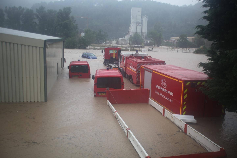 La casernes des pompiers de Draguignan a été engloutie par les eaux le soir du 15 juin 2010.