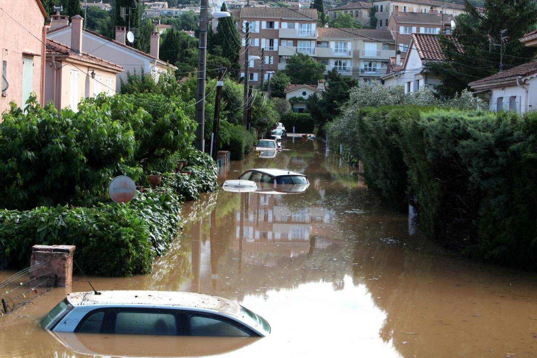 Le niveau de l'eau au quartier du Clos Jean-Aicard.