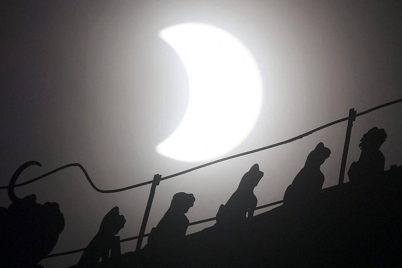 Eclipse solaire partielle depuis Beijing.