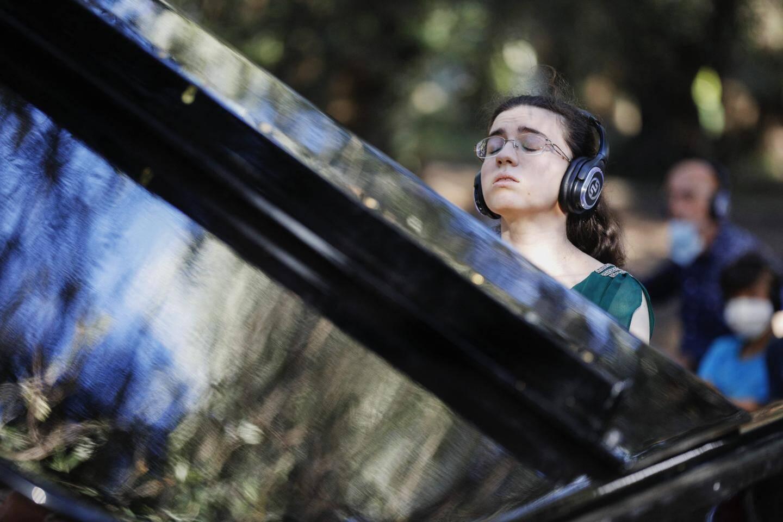Marie-Ange Ngucci : la première à jouer en « silent system » au Parc du Pian.
