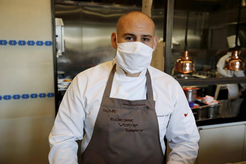 Arnaud Collin, sous-chef junior dans les cuisines
