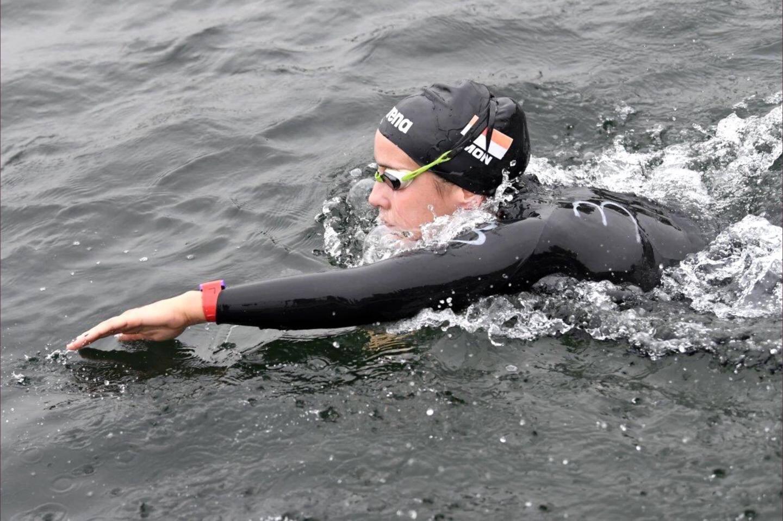 Lisa Pou en pleine action sur le plan d'eau de Jablines.