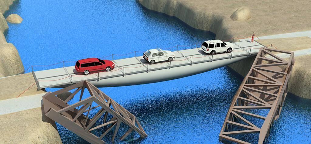 L'Air bridge de la société Cimne (Barcelone).