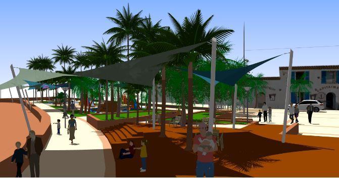 Le projet prévoit une promenade et un jeu de boules.