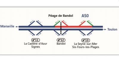 En raison de travaux sur l'A50, des modifications de circulation sont à prévoir ces prochains jours