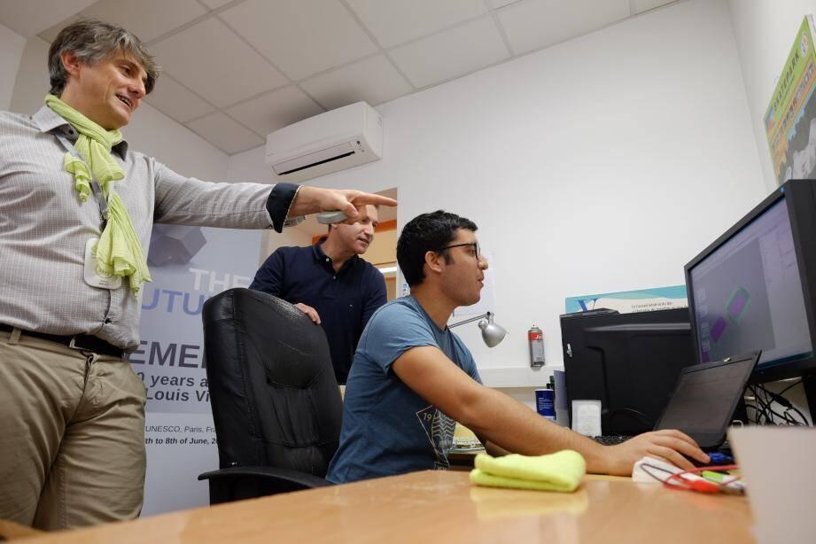 """La start-up """"360smartconnect"""" a été cofondée par Rolland Mélet, Laurent Montegut, Robin Camacho et Jorge Luis Acosta."""