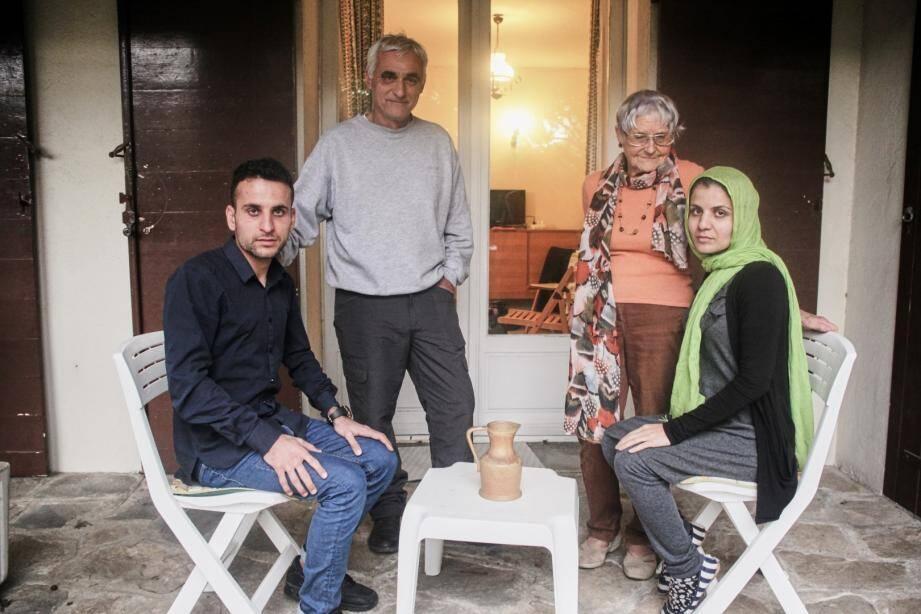Jawid et Maryam sont en ce moment hébergés à Six-Fours chez Marga, membre du réseau Welcome.