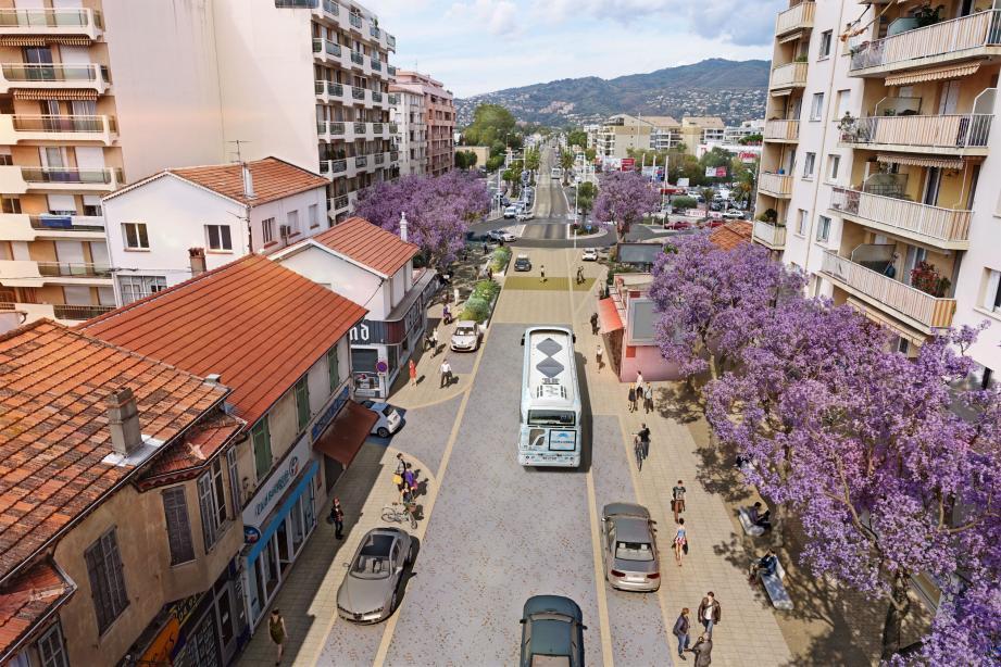 Trottoirs élargis et accessibles aux PMR, terrasses qualitatives, espaces arborés..., l'avenue Francis-Tonner aura fière allure au terme des travaux.