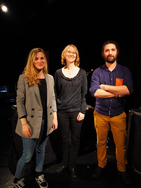 Lorine Beladina coordinatrice de Tandem, Céline Szczyglak et Martin Baudu.