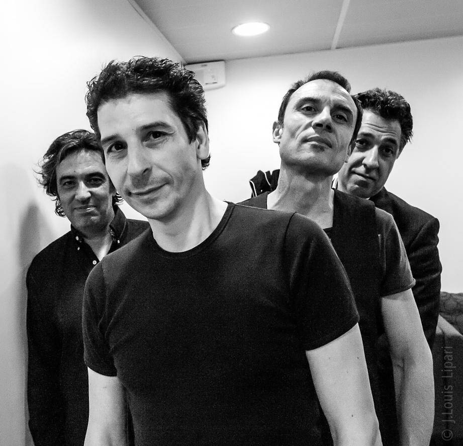 De gauche à droite: Stéphane Mirc, éric Chabaud, Marc Piola Caselli et Claude Mariottini.