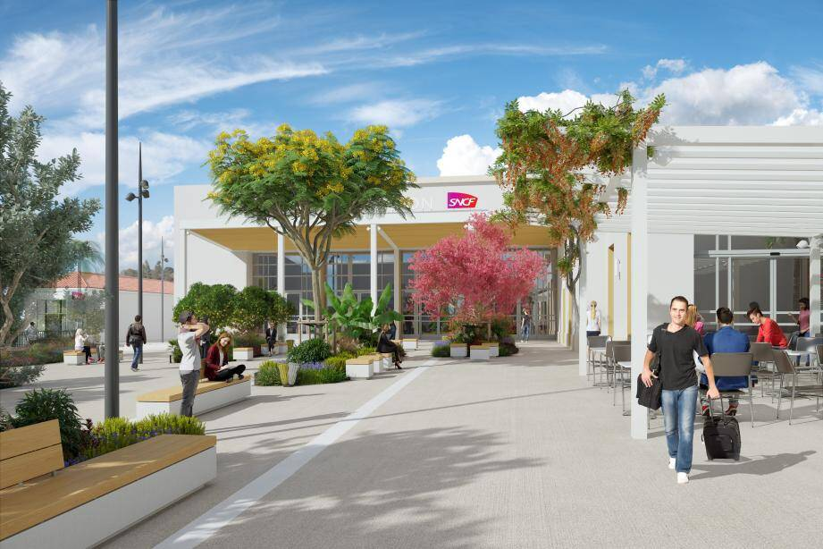 La gare et ses environs offriront un tout autre visage en 2022.(Visuels SNCF Gares & Connexions)