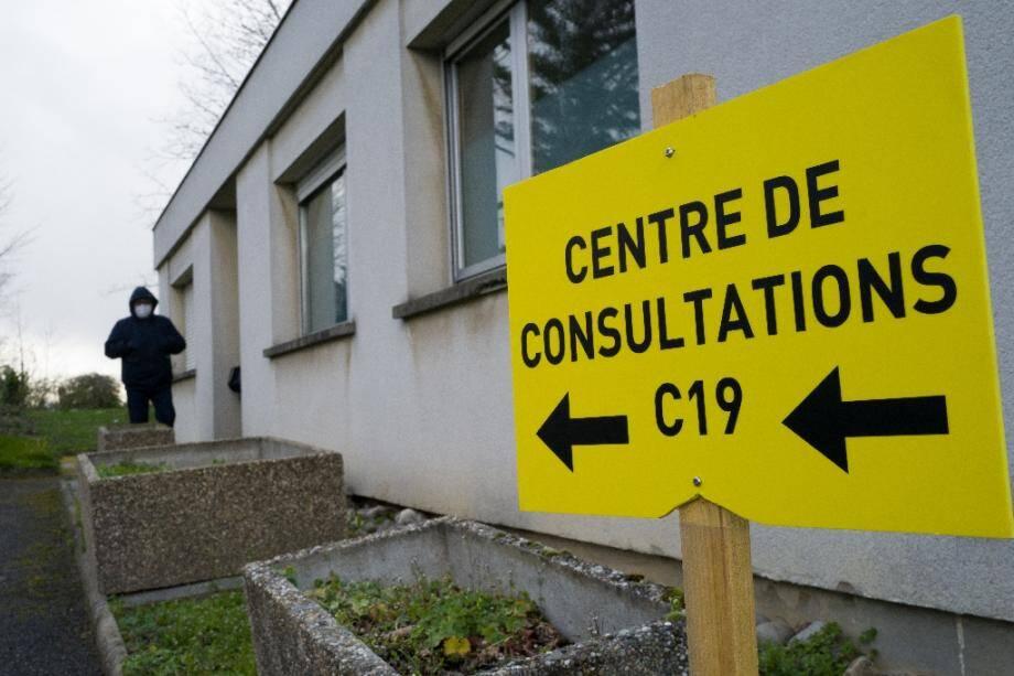 Centre de consultations dédié aux détections du coronavirus, à l'hôpital Emile Muller à Mulhouse, le 9 mars 2020