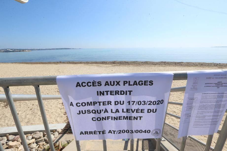 Plus de tentation d'aller à la plage malgré le confinement!