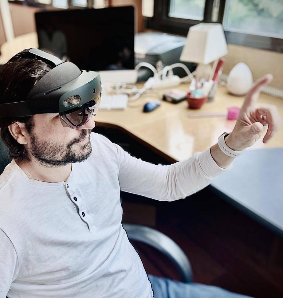 Sylvain Ordureau propose aux musées, par exemple, d'organiser des visites en réalité virtuelle de façon totalement sécurisée.