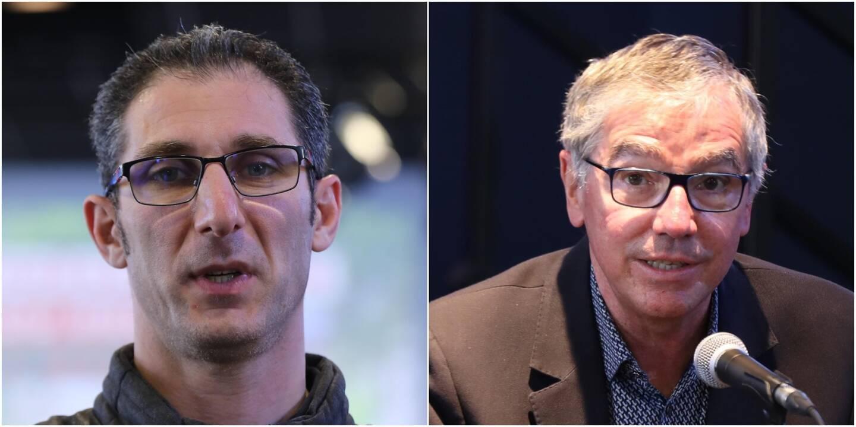 Michael Damlamayan (à gauche), futur chef de la brasserie et Daniel Taillandier (à droite), directeur du réseau CinéWest.