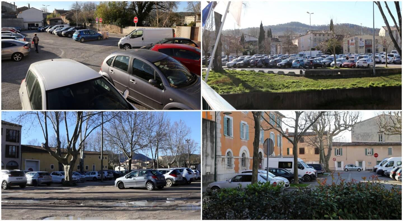 Un parking va être construit rue Lice de Signon (photo en haut à gauche). Des parcs à enclos payants vont être créés sur les parkings des Augustins, Toucas, des impôts et du palais de justice.