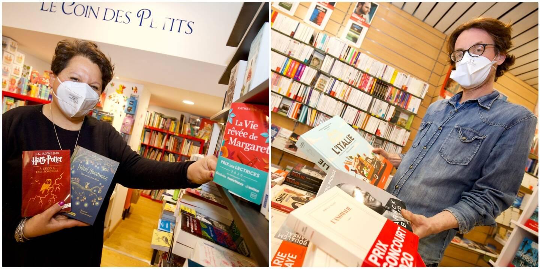 Jenyfer Scali, de la librairie Au pays bleu, et Cyrille Falisse, de Lo païs.