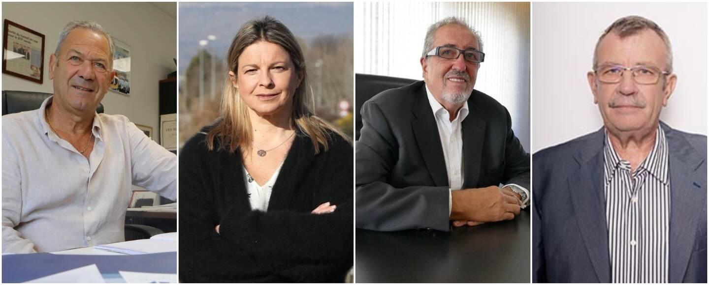 Jean-Jacques Castillon (BTP), Fabienne Joly (Chambre d'agriculture), Gérard Cerruti (Union Patronale du Var), Roland Rolfo (Chambre des métiers).