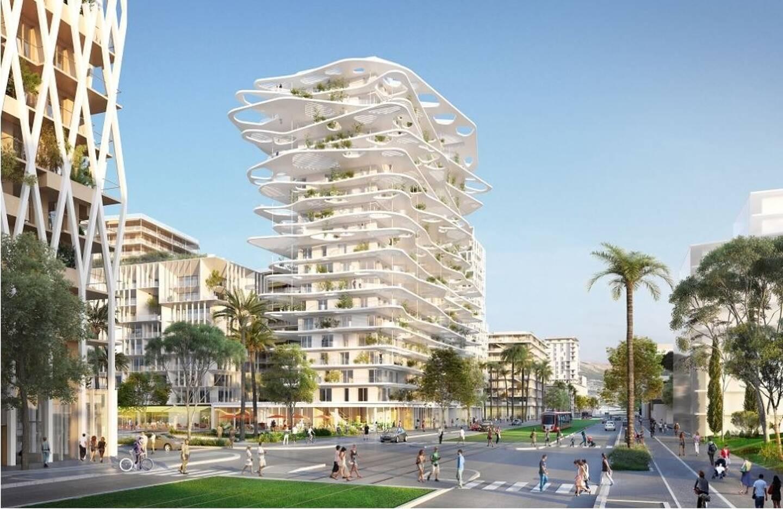 """La projet de l'architecte Sou Fujimoto, et la future """"place métropolitaine"""" de l'ensemble Joia Méridia, au cœur du quartier Nice Méridia."""