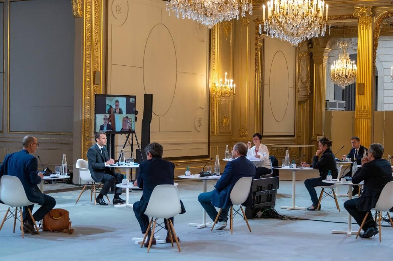 Emmanuel Macron a répondu aux questions des journalistes de la presse quotidienne régionale pendant près de deux heures.