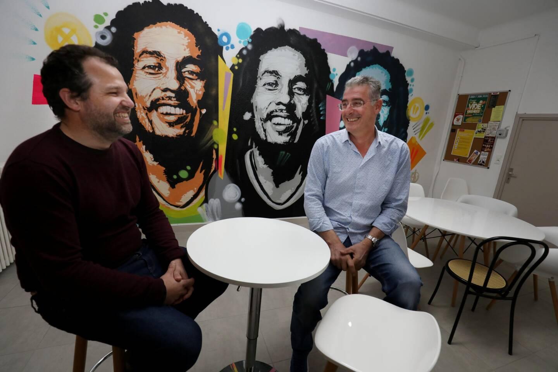 Frédéric Sastrel (à droite) a lancé Le Campus numérique de Lorgues début 2018. Dès le départ, Bruno Mestre l'a suivi dans l'aventure