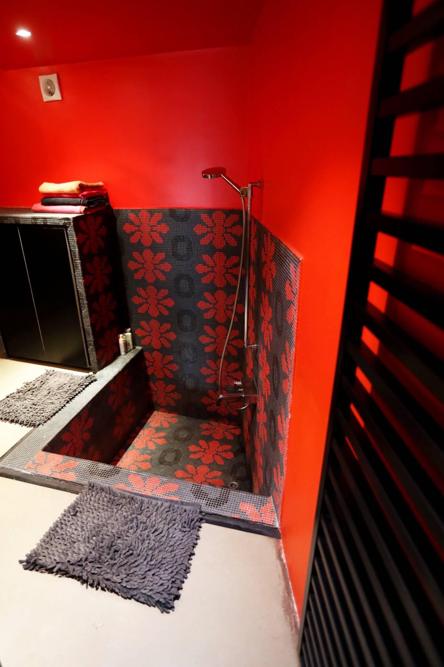 Une salle d'eau.