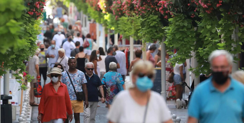 Le port du masque constaté rue Lamalgue et sur le marché du Mourillon à Toulon, en août 2020 (illustration).