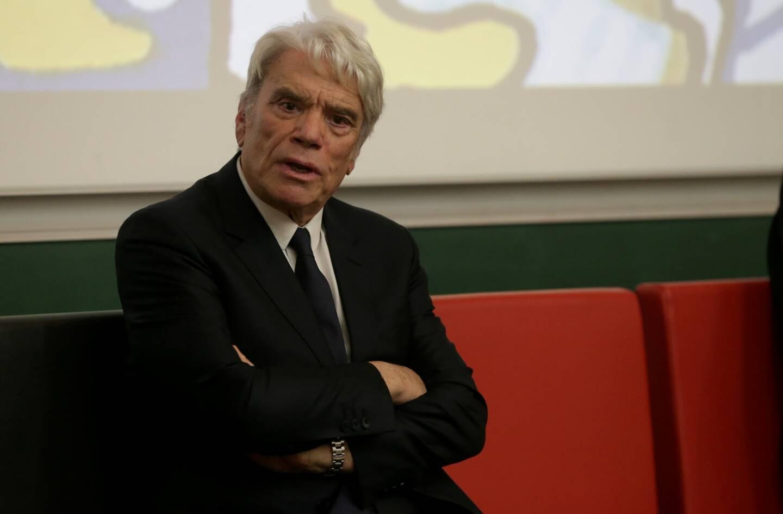 Bernard Tapie à la fac de médecine de Nice (novembre 2020).