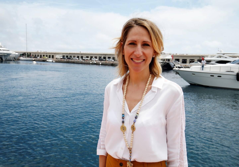 Maud Fontenoy, lors d'un déplacement à Monaco.