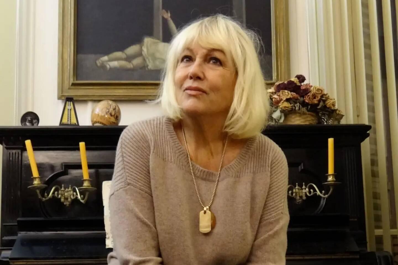 Mylène Demongeot chez elle, à Paris, le 5 décembre 2012.