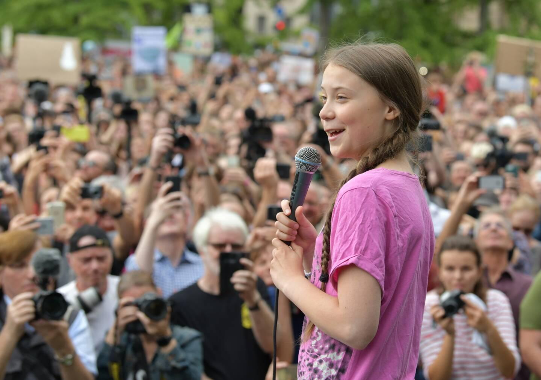 Greta Thunberg, ici en Allemagne.