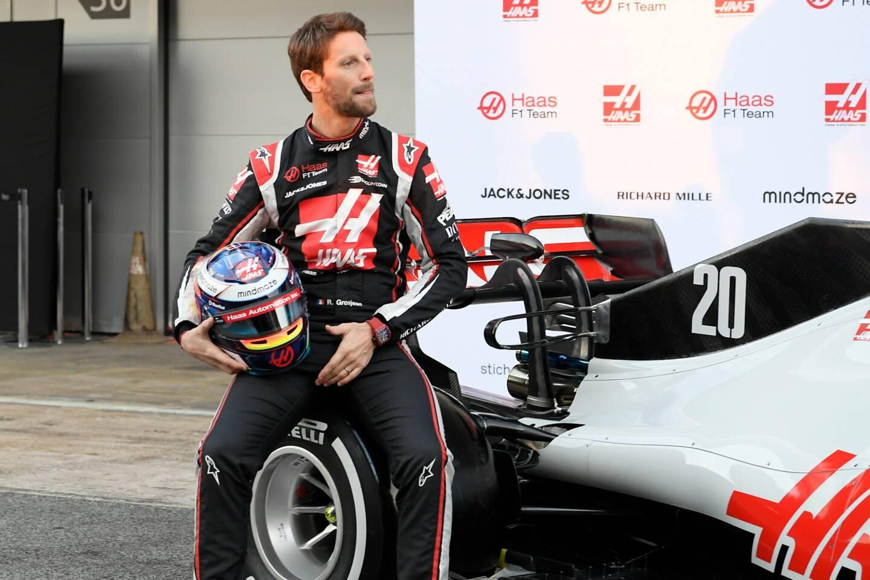Romain Grosjean. Illustration.