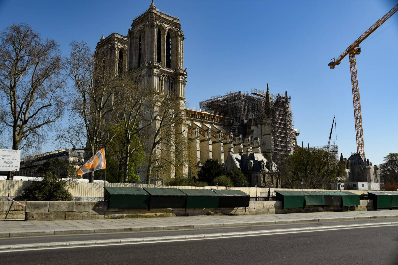 Le chantier de Notre-Dame de Paris.
