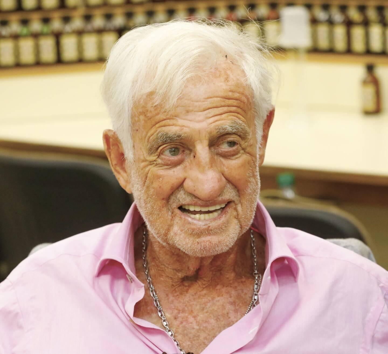 Jean-Paul Belmondo en juillet 2020 à Grasse.