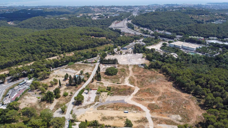 Le chantier d'Open sky à Valbonne