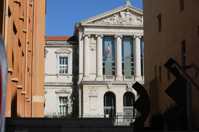 Le palais de justice de Nice, cour d'assises.