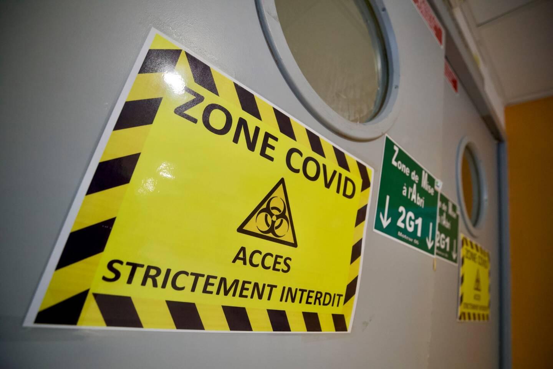 Une zone Covid à l'hôpital.