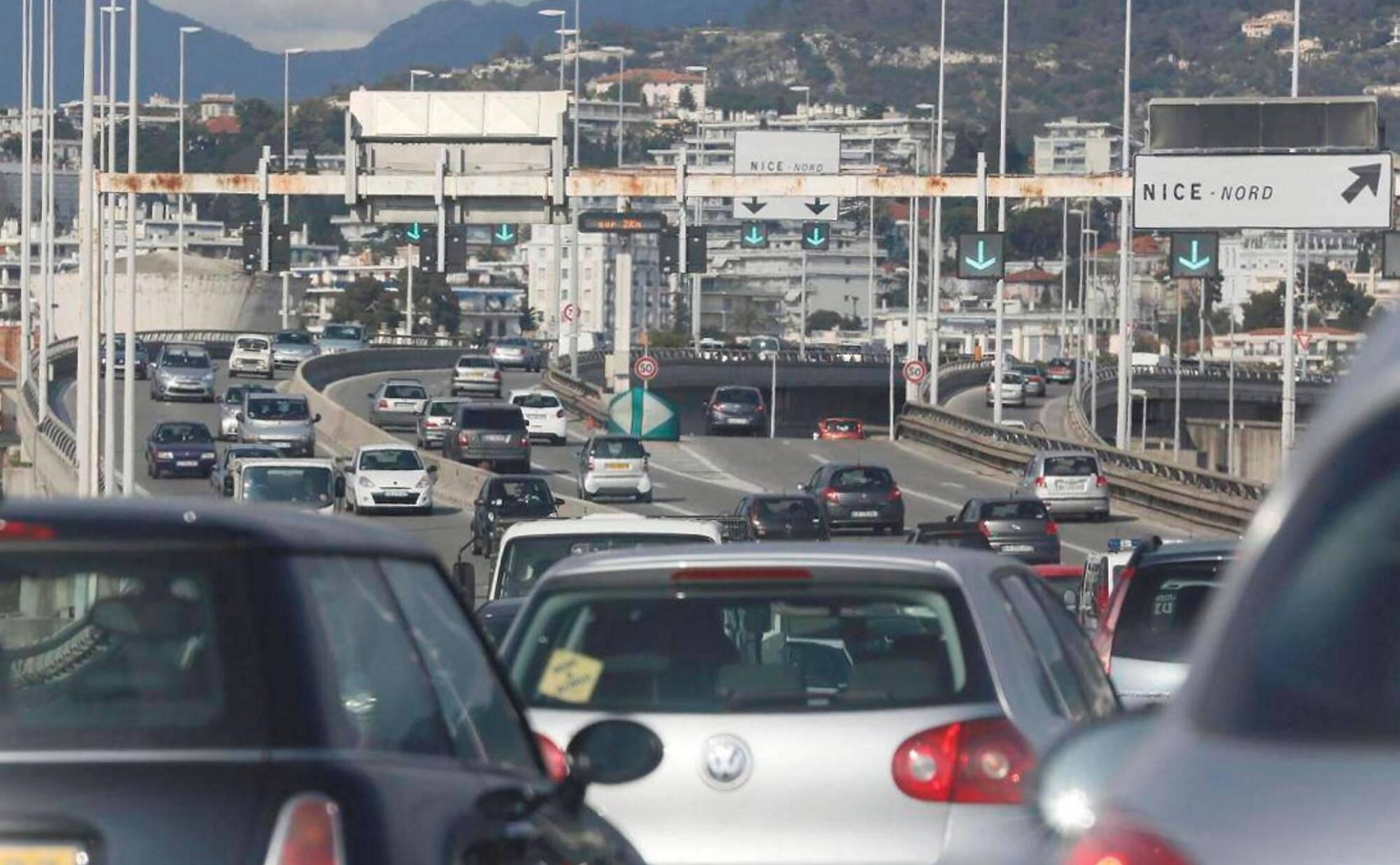 A Nice, un accident provoque de forts ralentissements sur la Voie Mathis ce mercredi matin