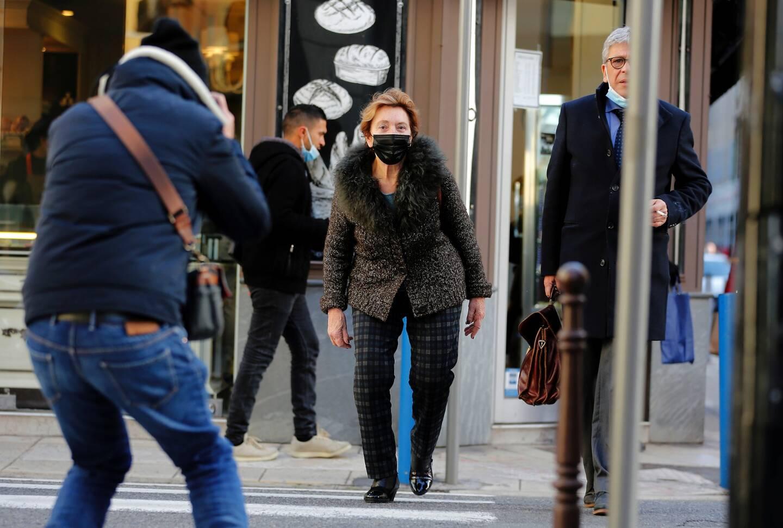 Jacqueline Veyrac arrivant au palais de justice de Nice le 22 janvier 2021.