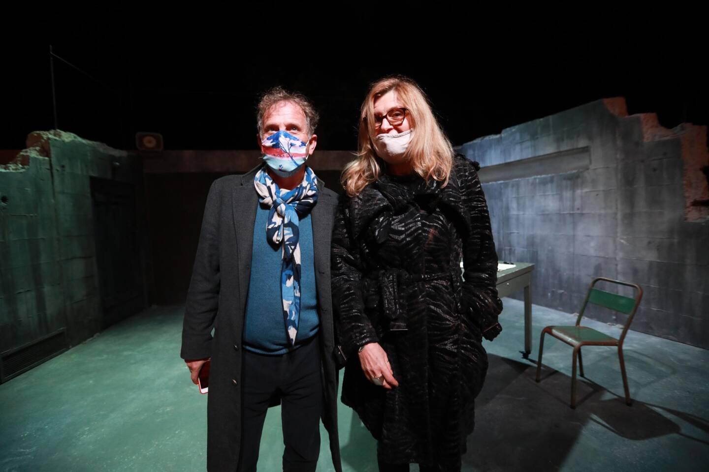 Le directeur de la scène nationale toulonnaise, Charles Berling, et la metteuse en scène, réalisatrice et romancière Anne Théron.