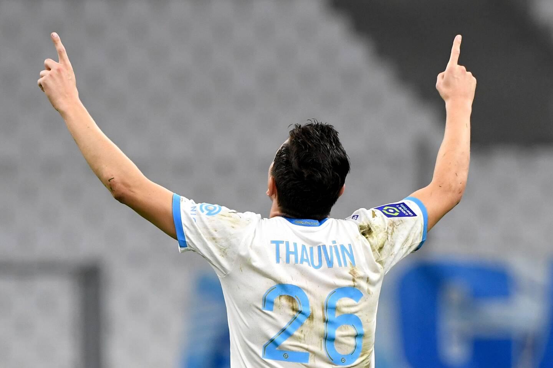 Florian Thauvin sous le maillot de l'OM.