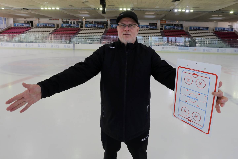 Stan Sutor, entraîneur du Nice Hockey Elite.