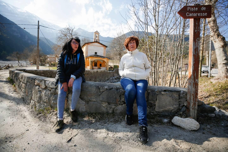 Wanda Pascucci, 68 ans, de Saint-Dalmas-de-Tende, et Maryse Sassi, 60 ans, restauratrice à Tende.